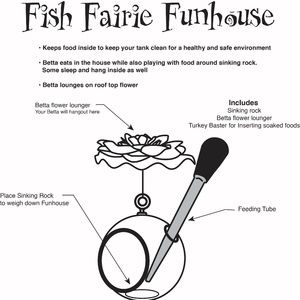 Feeding and Fun house for fish